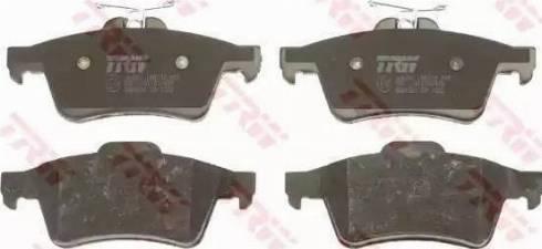 TRW GDB1621 - Тормозные колодки, дисковые sparts.com.ua