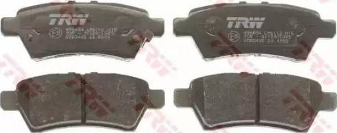 TRW GDB3405 - Тормозные колодки, дисковые sparts.com.ua