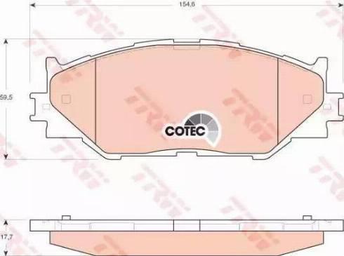 TRW GDB3410 - Тормозные колодки, дисковые sparts.com.ua