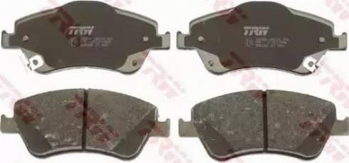 TRW GDB3481 - Тормозные колодки, дисковые sparts.com.ua
