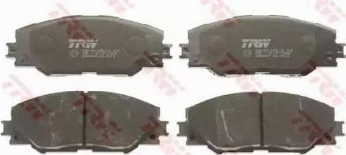 TRW GDB3424 - Тормозные колодки, дисковые sparts.com.ua