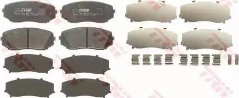 TRW GDB3471 - Тормозные колодки, дисковые sparts.com.ua
