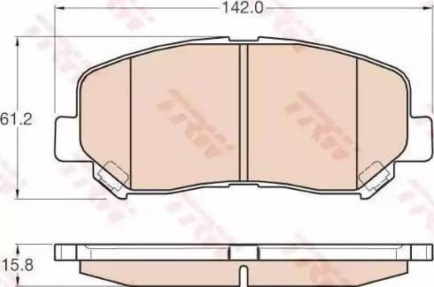 TRW GDB3562 - Тормозные колодки, дисковые sparts.com.ua