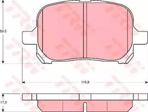 TRW GDB3152 - Тормозные колодки, дисковые sparts.com.ua