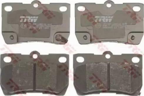 TRW GDB3399 - Тормозные колодки, дисковые sparts.com.ua