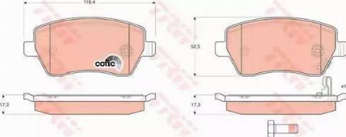 TRW GDB3396 - Тормозные колодки, дисковые sparts.com.ua