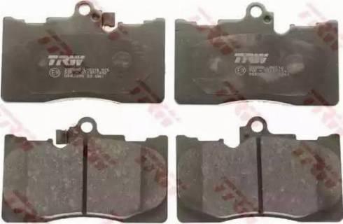 TRW GDB3398 - Тормозные колодки, дисковые sparts.com.ua