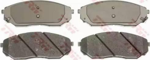 TRW GDB3343 - Тормозные колодки, дисковые sparts.com.ua