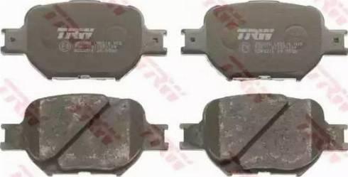 TRW GDB3316 - Тормозные колодки, дисковые sparts.com.ua
