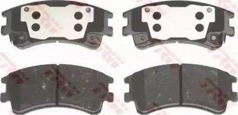 TRW GDB3310 - Тормозные колодки, дисковые sparts.com.ua