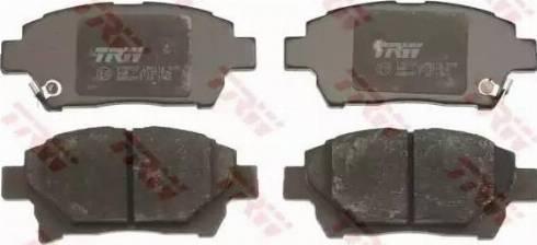 TRW GDB3317 - Тормозные колодки, дисковые sparts.com.ua