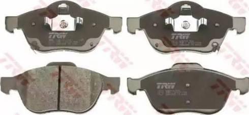 TRW GDB3335 - Тормозные колодки, дисковые sparts.com.ua