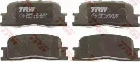 TRW GDB3374 - Тормозные колодки, дисковые sparts.com.ua
