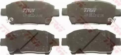 TRW GDB3242 - Тормозные колодки, дисковые sparts.com.ua