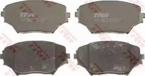 TRW GDB3251 - Тормозные колодки, дисковые sparts.com.ua