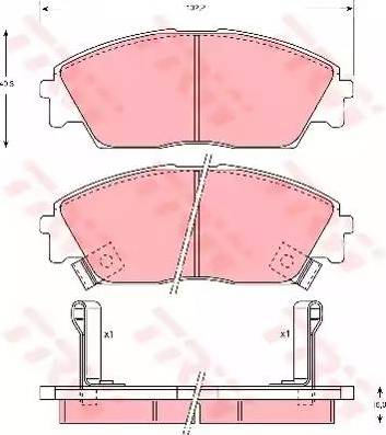 TRW GDB763 - Тормозные колодки, дисковые sparts.com.ua