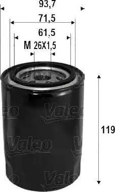 Valeo 586090 - Масляный фильтр sparts.com.ua