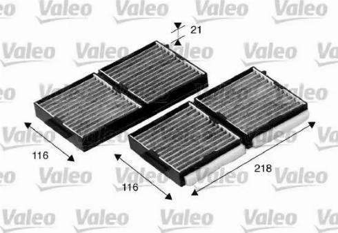 Valeo 698890 - Фильтр воздуха в салоне sparts.com.ua