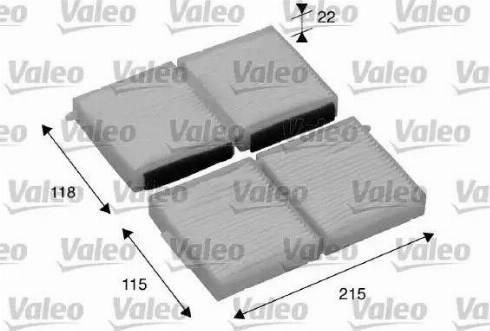 Valeo 698891 - Фильтр воздуха в салоне sparts.com.ua