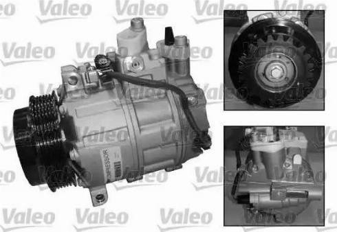 Valeo 813157 - Компрессор, кондиционер sparts.com.ua