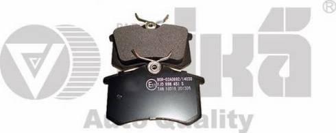 Vika 66980001601 - Тормозные колодки, дисковые sparts.com.ua