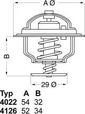 WAHLER 412688 - Термостат, охлаждающая жидкость sparts.com.ua