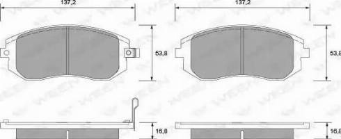 Ween 151-2299 - Тормозные колодки, дисковые sparts.com.ua