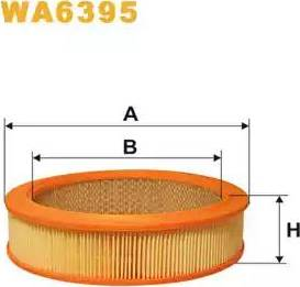 WIX Filters WA6395 - Воздушный фильтр sparts.com.ua