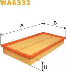 WIX Filters WA6333 - Воздушный фильтр sparts.com.ua