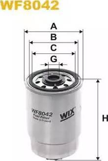 WIX Filters WF8042 - Топливный фильтр sparts.com.ua