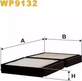 WIX Filters WP9132 - Фильтр воздуха в салоне sparts.com.ua