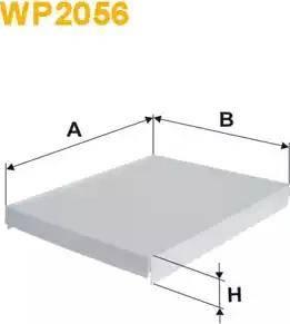 WIX Filters WP2056 - Фильтр воздуха в салоне sparts.com.ua