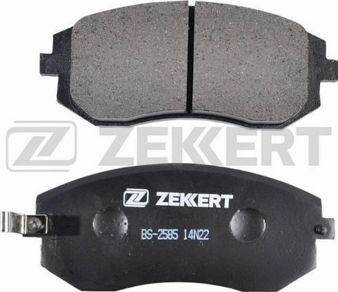 Zekkert BS-2585 - Тормозные колодки, дисковые sparts.com.ua