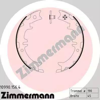 Zimmermann 10990.156.4 - Комплект тормозов, ручник, парковка sparts.com.ua
